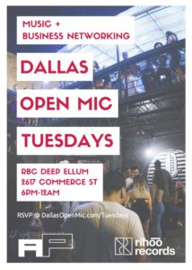 Dallas Open Mic @ RBC  | Dallas | Texas | United States